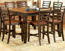 glamorous dining room dark wood table and chairs sets with woodble