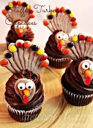 stuffed turkey cupcakes