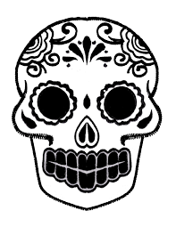 day of the dead mask templates flvs printables diadelosmuertos