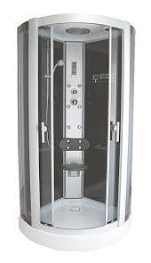 cabina doccia roma cabina idro black 蘯 cerchio cristallo fume 5 mm 95x220x95 cm