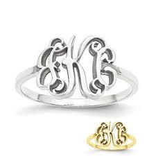 Gold Monogram Rings Personalized U0026 Custom Rings U2013 Sparkle U0026 Jade
