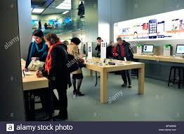 paris france french shopping center general view inside apple