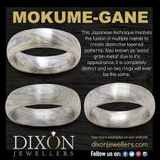custom metal rings images Tri metal custom mokume gane wedding band dixon jewellers l