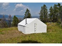 wall tent montana canvas 16 x 20 wall tent 5 stove jack mpn 10oz16x20