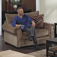 Oversized Living Room Furniture Sets Oversized Rolled Arm Chair By Jackson Furniture Wolf And