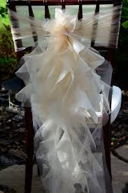 Cheap Chair Covers And Sashes 2016 Ruffled Chair Sashes White Ivory Champagne Chair Covers