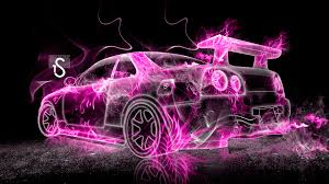 pink cars nissan skyline gtr r34 fire abstract car 2013 el tony