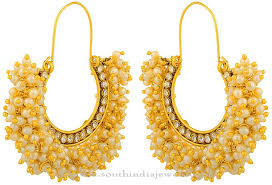 hoops earrings india gold plated pearl hoop earrings pearls gold and indian jewelry