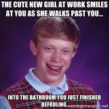 Funny Crush Memes - the workplace crush meme guy