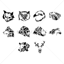 animal tattoo design vector image 1433621 stockunlimited