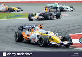 spanish formula one driver fernando alonso of renault f1 front