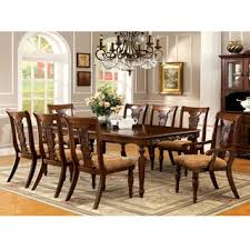 oak dining room sets furniture of america ella formal 9 oak dining set