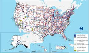 Map Of United States With Cities by Interstate Highway System Wikipedia Interstateguide All You Need