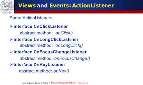 android onclick programming with android widgets and events luca bedogni marco di