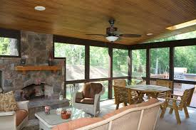 Screen Porch Fireplace by Windows U0026 Home Renovations Direct Inc Screen Porch Windows
