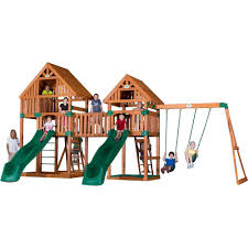 backyard discovery vista all cedar playset 54273com the home depot