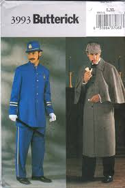 Butterick Halloween Costume Patterns Butterick 3993 Mens Sherlock Holmes Cape Coat English Bobby Jacket