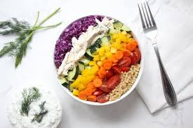 rainbow couscous and tzatziki chicken u2014 zested lemon