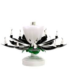 spinning birthday candle black flower musical birthday candles lotus flower spinning candles
