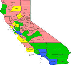 County Map Of California Community Based Services Cbas Distribution Of Centers
