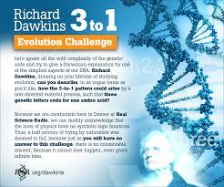 Challenge Real Richard Dawkins 3 To 1 Evolution Challenge Kgov