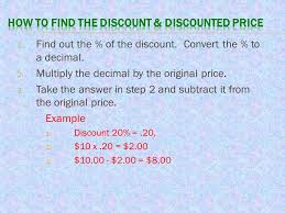 solving problems involving discounts at sales and sales tax ppt