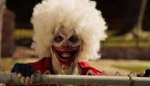 100 clown new movie panic as a man dressed as a clown is