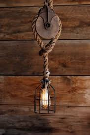 industrial pulley pendant light the wood wheel pulley pendant light rustic industrial cage