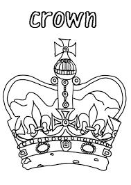 princess crown for royal family coloring page netart