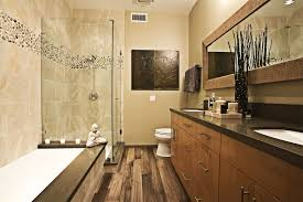 rustic bathroom sink designs brick accent walls 2 wood vanity top