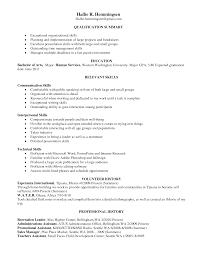 resume skill summary resume for your job application