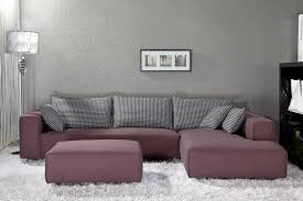 White Fur Ottoman by Ideas Modern Living Room Design With Gray Deep Sectional Sofa And