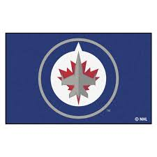 Nhl Area Rugs Fanmats Nhl Winnipeg Jets Navy 5 Ft X 8 Ft Area Rug 10516 The