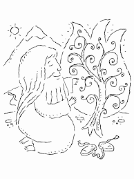 moses and the burning bush coloring page 5561 523 700