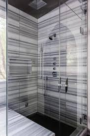 shower tiles shower with gray striped marble tiles and black ceiling