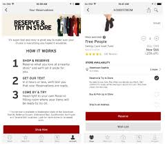 new nordstrom feature reserve try in store lets customers