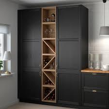 ikea kitchen cupboard storage accessories vadholma wine shelf brown stained ash ikea
