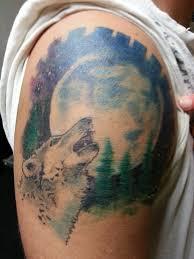 howling wolf tattoo by chrisboehler on deviantart