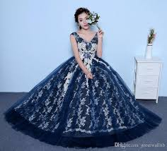Ball Gown Halloween Costume 100 Navy Blue White Lace Embroidery Ball Gown Court Medieval