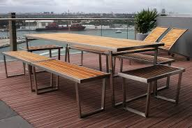 Teak Stainless Steel Outdoor Furniture by Steel Outdoor Furniture