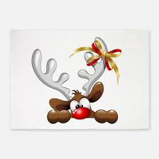 Funny Area Rugs Funny Rudolph The Red Nose Reindeer Rugs Funny Rudolph The Red