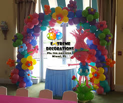 party supplies miami trolls theme birthday party trolls balloon arch with flowers