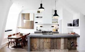 reclaimed wood kitchen island interior decoration contemporary kitchen with rectangle brown