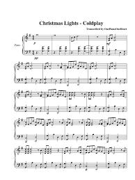 christmas lights cold play 100 ideas christmas lights sheet music scribd on
