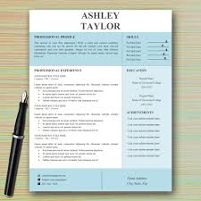 Instant Resume Templates Modern Professional Resume Template For Microsoft Word