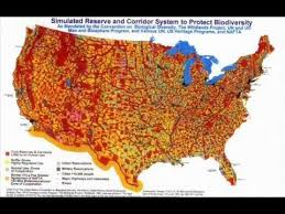un map biodiversity map from u n shows plan for depopulated u s