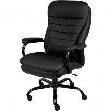 500 lb office chair big and tall black leather executive side