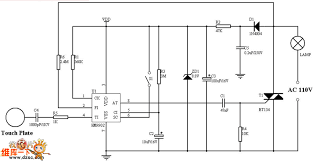 Touch Light Control Two State Touch Light Control Circuit Light Control