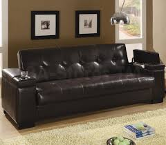 489 95 faux leather convertible sofa sleeper with storage
