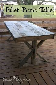 Plans Building Wooden Picnic Tables by Best 25 Pallet Picnic Tables Ideas On Pinterest Picnic Tables